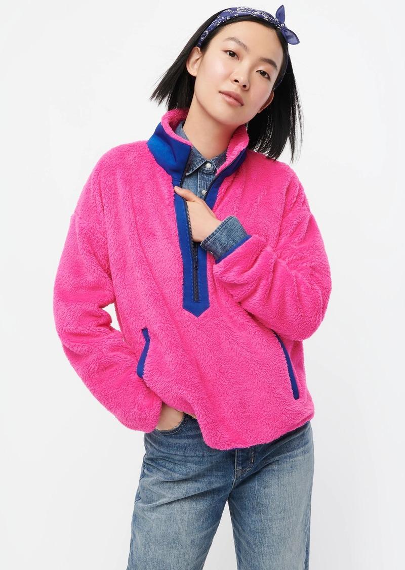 J.Crew Superplush sherpa half-zip pullover