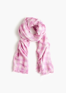 J.Crew Supersoft double-sided gingham scarf