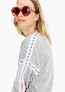 J.Crew Supersoft fleece sweatshirt with racing stripes
