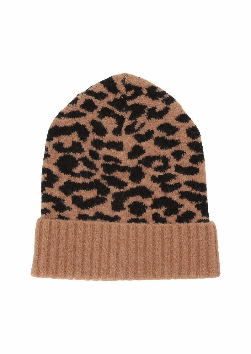 J.Crew Supersoft Leopard Beanie