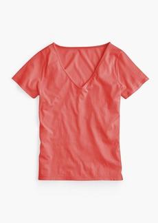 J.Crew Supersoft Supima® raw-edge V-neck T-shirt