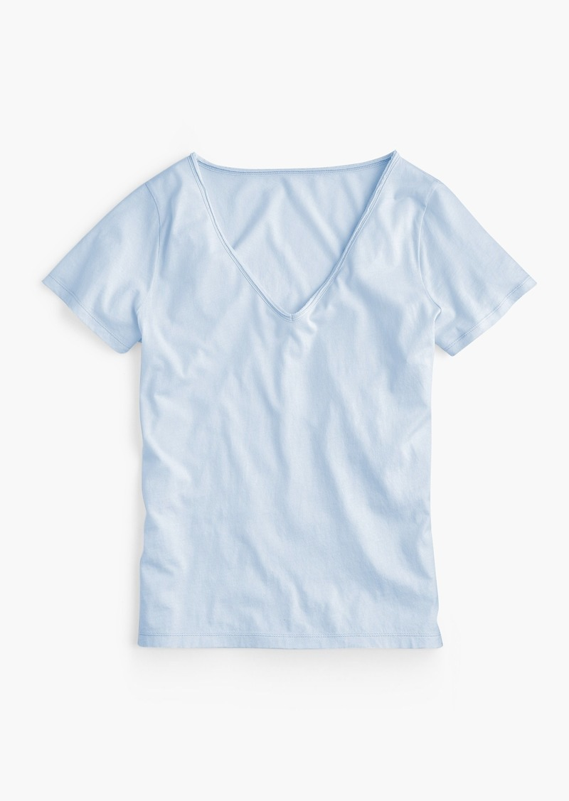 81c24893be74a J.Crew Supersoft Supima® raw-edge V-neck T-shirt | Casual Shirts