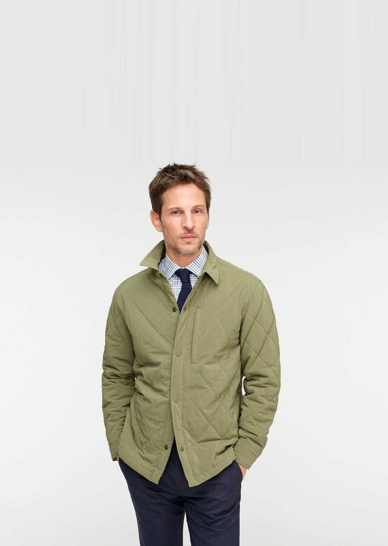 J.Crew Sussex lightweight quilted jacket with eco-friendly PrimaLoft®