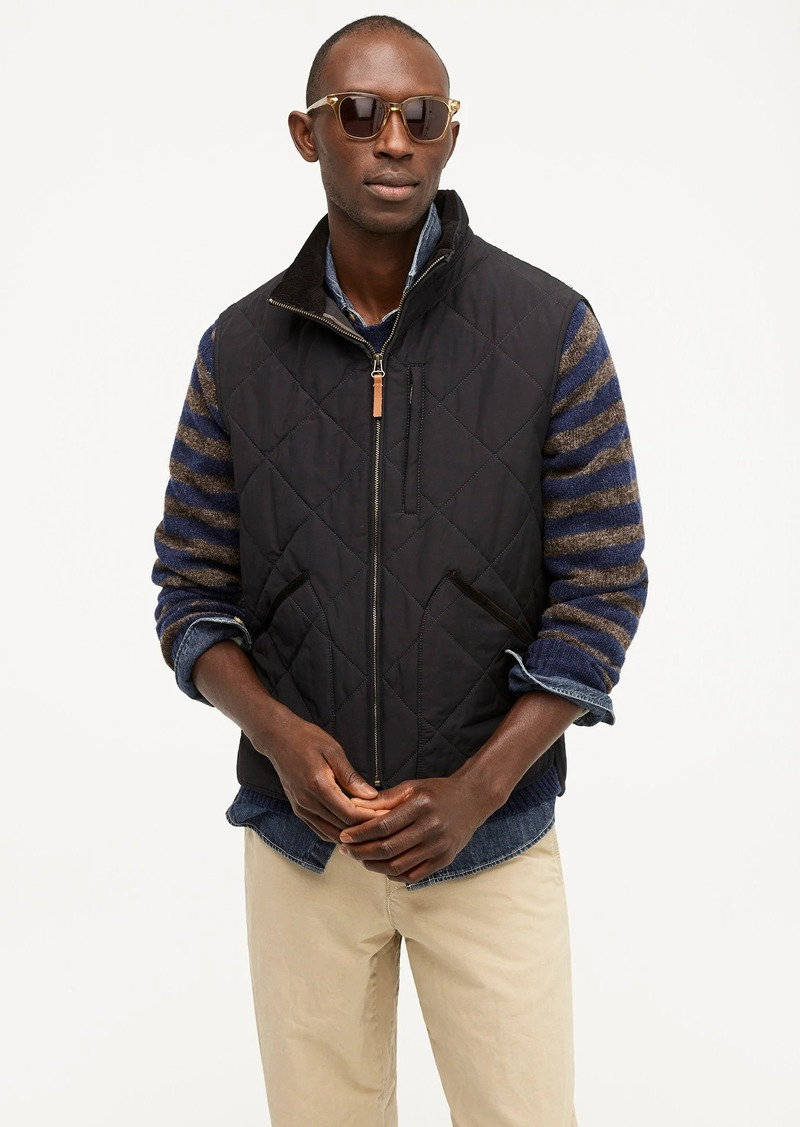 J.Crew Sussex quilted vest with eco-friendly PrimaLoft®