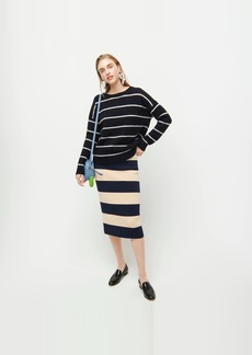 J.Crew Sweater-skirt in rugby stripe