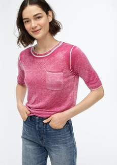 J.Crew Sweater-tee with reverse-printed TENCEL™ lyocell