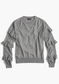 J.Crew Sweater with ruffle sleeves