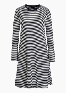J.Crew Swingy long-sleeve dress in stripe