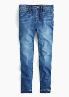 """J.Crew Tall 10"""" higher-rise toothpick eco jean with let-down hem"""