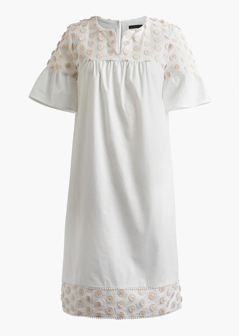 J.Crew Bell-sleeve dress with fringe dot