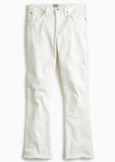 J.Crew Tall Demi-boot crop in jean white