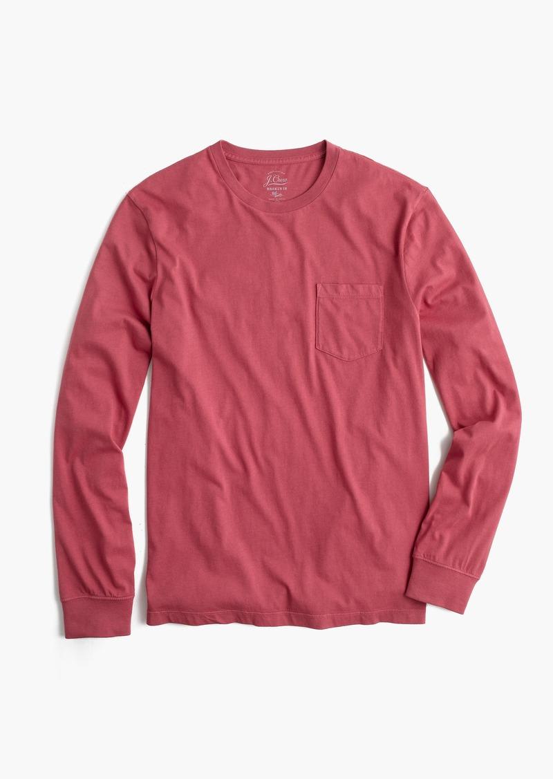 5cdc740417e7 J.Crew Tall broken-in long-sleeve pocket T-shirt | Casual Shirts