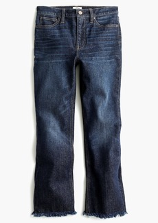 J.Crew Tall demi-boot crop jean with frayed hem