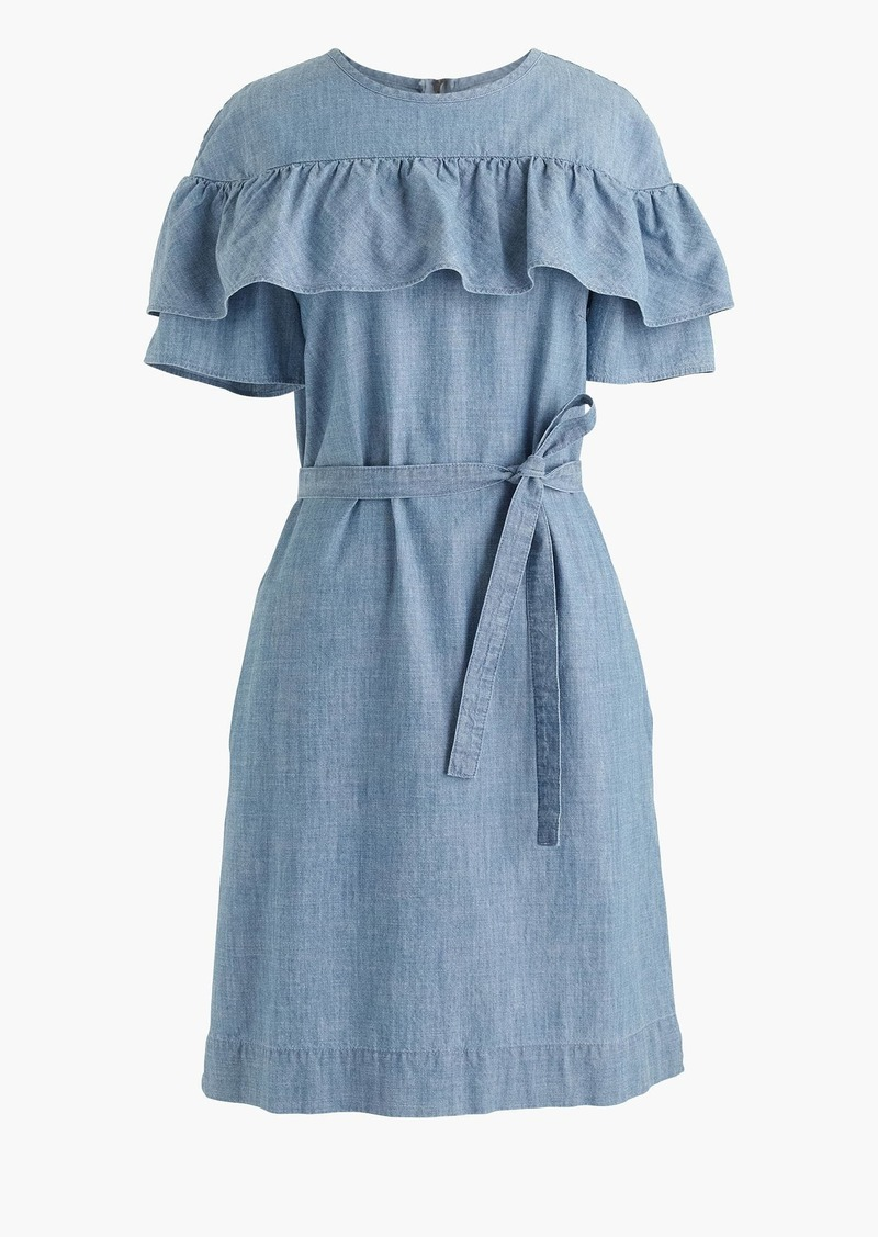 J.Crew Tall Edie dress in chambray