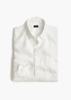 J.Crew Slim Irish linen shirt in solid
