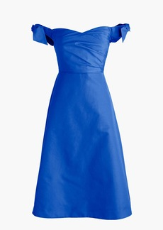 J.Crew Tall off-the-shoulder strapless dress with ties in faille