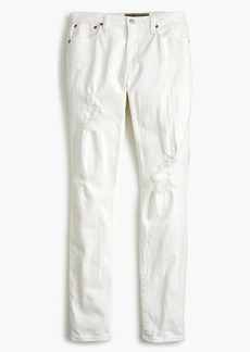 J.Crew Point Sur high-rise boyfriend jean in destructed white denim