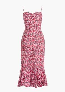 Ruffle-hem midi dress in Liberty® Wiltshire floral
