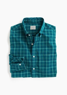 J.Crew Slim stretch Secret Wash shirt in teal plaid