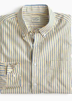 J.Crew Slim stretch Secret Wash shirt in yellow stripe