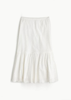 Tall tiered scalloped skirt in eyelet