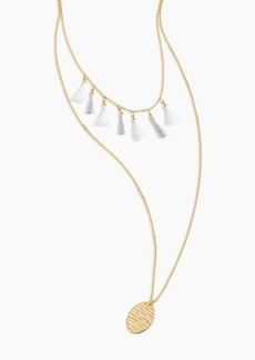 J.Crew Tassel and pendant necklace set