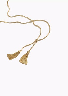 J.Crew Tassel chain necklace