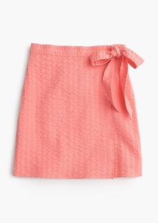 J.Crew Textured wrap mini skirt