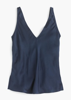 The 2003 washed silk V-neck tank