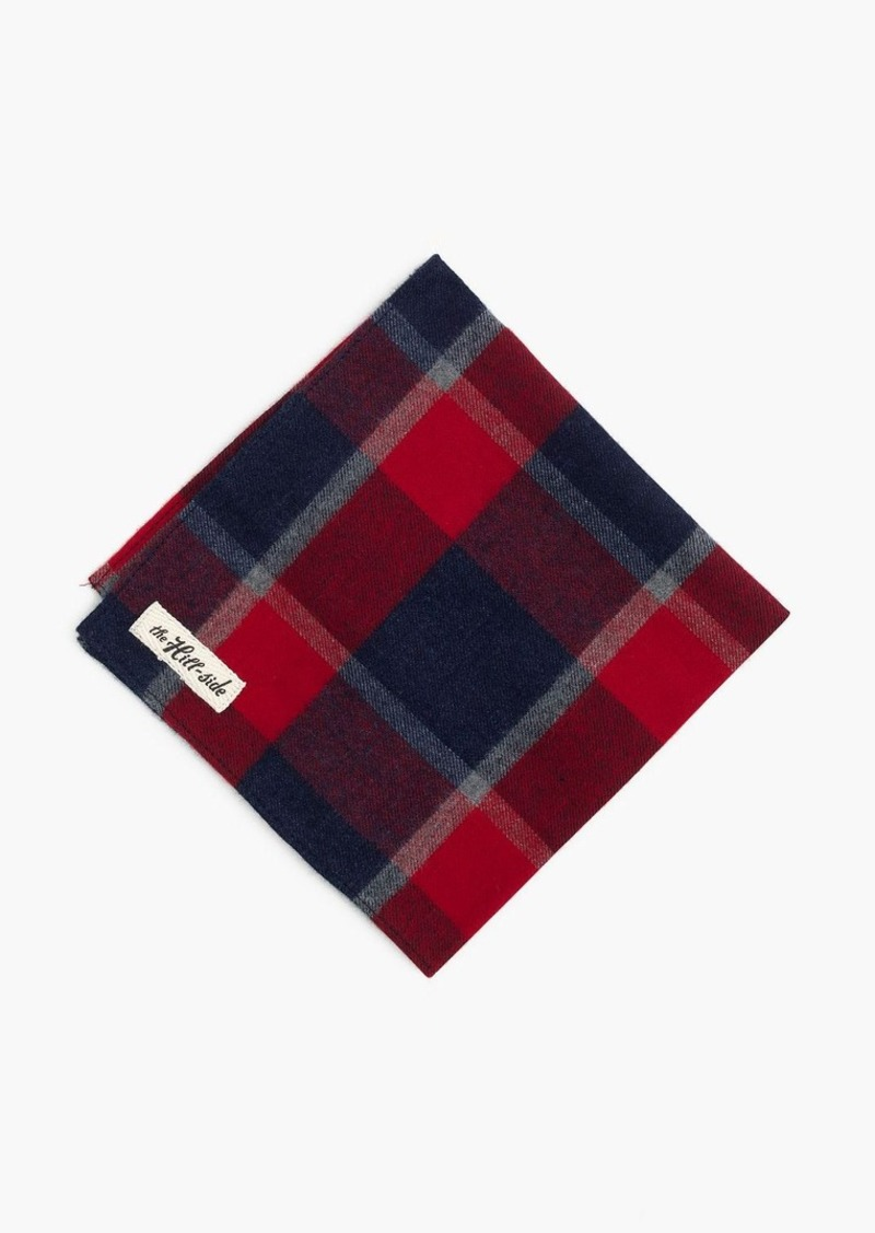 J.Crew The Hill-side® brushed flannel pocket square in wide check