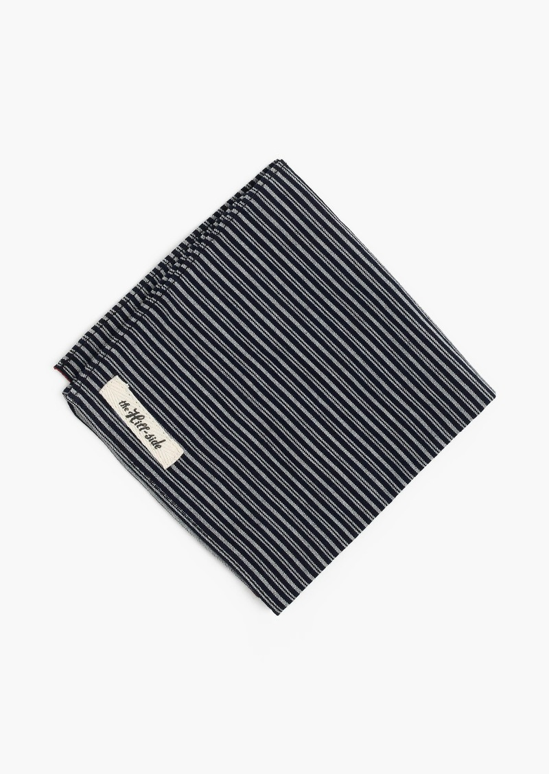 J.Crew The Hill-side® pocket square in father and son stripe