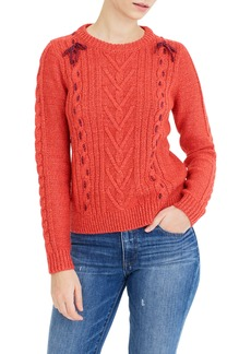 The Reeds X J.Crew Cable Knit Sweater