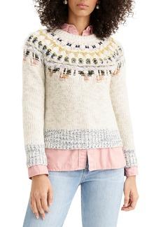 The Reeds x J.Crew Fair Isle Fuzzy Sweater