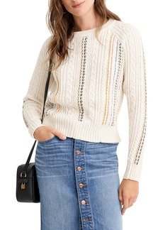 The Reeds X J.Crew Rainbow Cable Knit Sweater