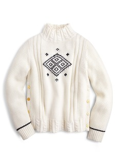The Reeds X J.Crew Side Button Swing Sweater