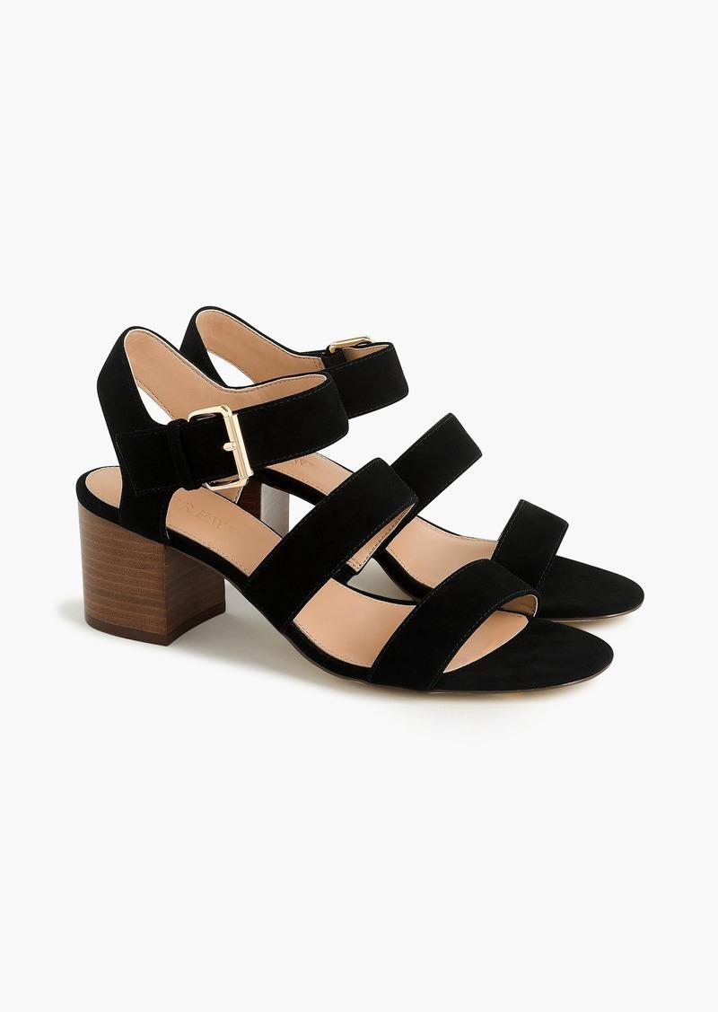 J.Crew Three-strap sandals in suede
