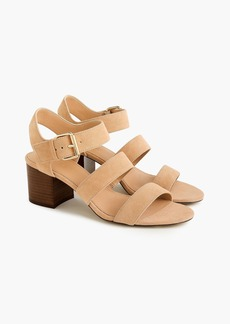 J.Crew Three-strap sandals in suede