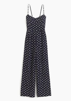 Tie-back jumpsuit in star print