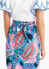 J.Crew Tie-back tulip skirt in Ratti® kaleidoscope floral
