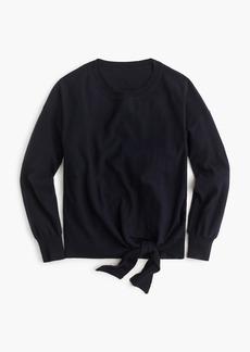J.Crew Tie-front crewneck sweater
