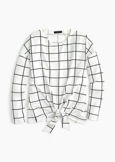 J.Crew Tie-front long-sleeve T-shirt