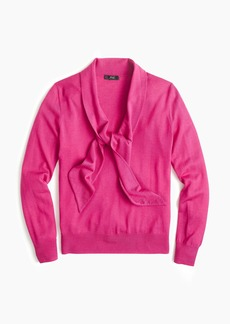 J.Crew Tie-front pullover sweater