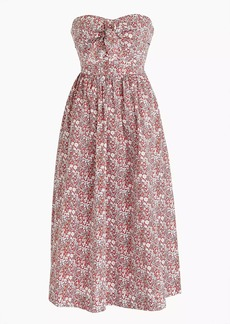 J.Crew Tie-front strapless dress in Liberty® June's Meadow