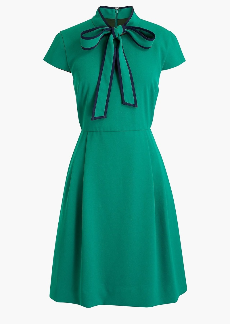 J.Crew Tie-neck dress in 365 crepe