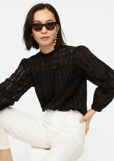 J.Crew Tie-back top in ditsy eyelet