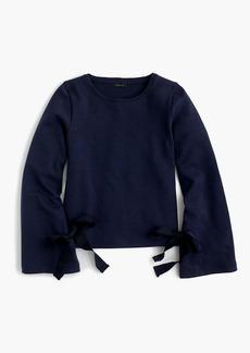 Tie-sleeve sweatshirt