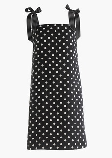 Tall tie-strap dress in polka dot