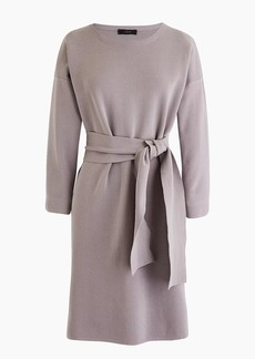 J.Crew Petite tie-waist cotton dress