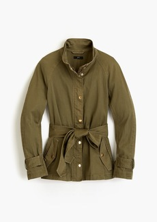 J.Crew Tie-waist cotton jacket