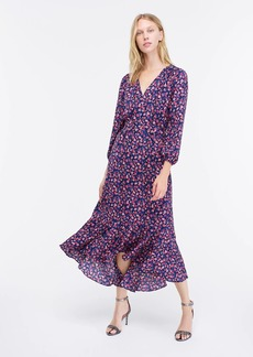 J.Crew Tie-waist midi dress in dotted floral
